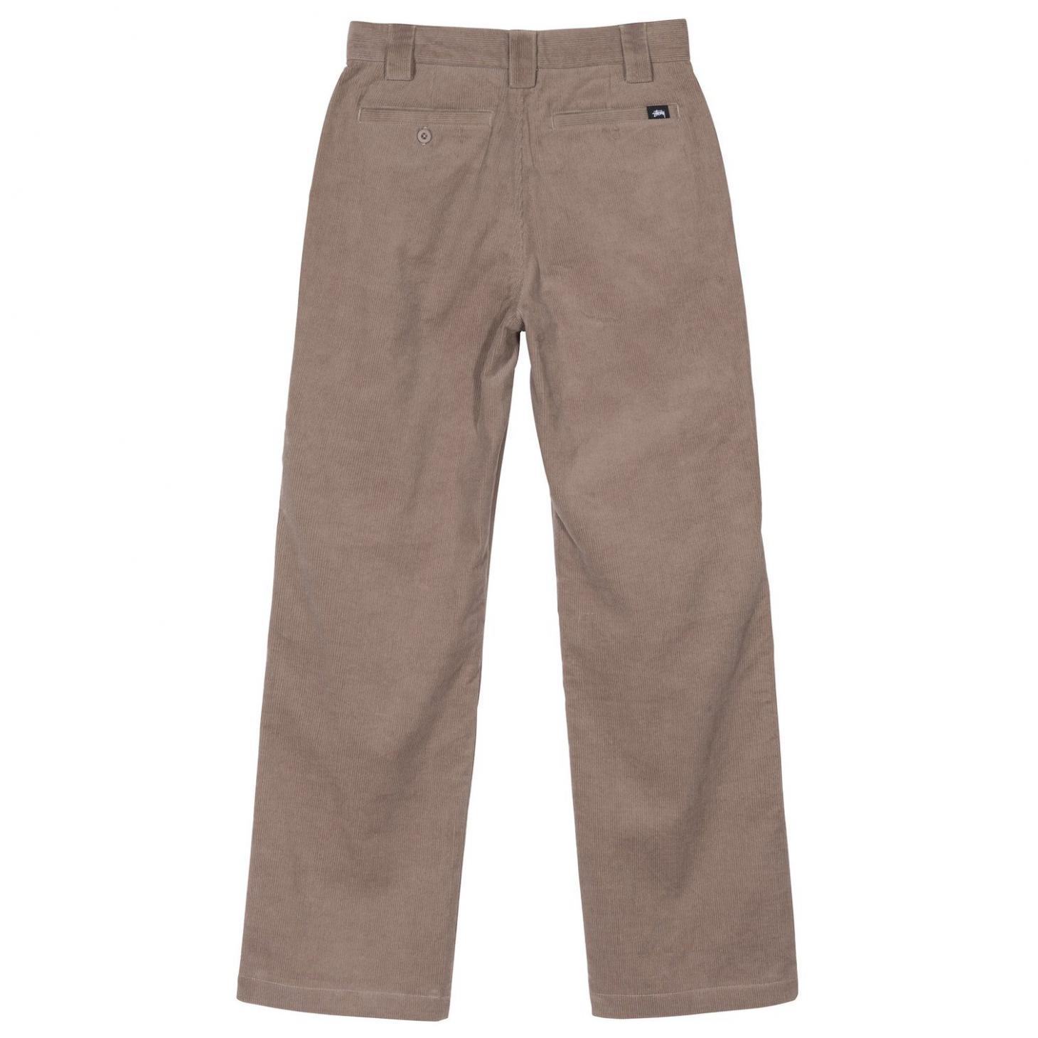 Womens Shorts & Pants | Stussy Corduroy Wide Pant Taupe ~ JemrayEnergy